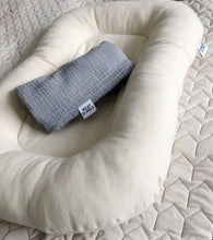 Baby nest - light grey cotton lounger
