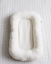LIMITED EDITION Double muslin cotton baby nest - mustard newborn lounger