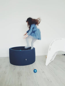 Small ball pit -80x40cm-160 balls - navy blue ball pit