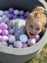 Dark grey ball pit 80x40cm with 160 balls