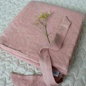 Pink linen baby sleeping envelope