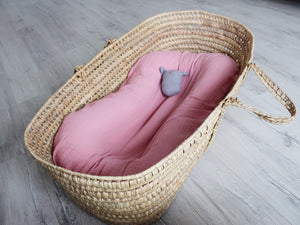 Pink cotton baby nest lounger