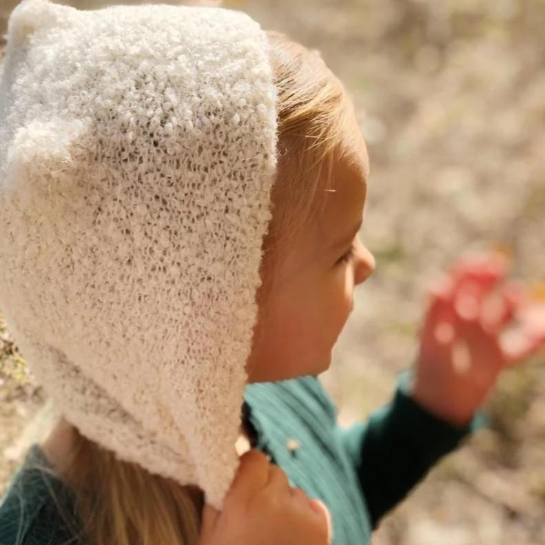 Kids wool hat - soft pink autumn hat