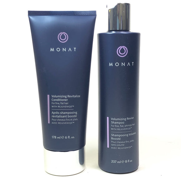 Monat Bundle Revive Volume Shampoo 8 fl oz & Revitalize Conditioner 6 fl oz