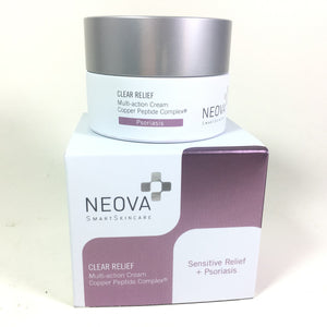 Neova Clear Relief Multi-Action Cream Copper Peptide Complex Sensitive Relief Psoriasis 50 ml