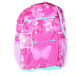Trailmaker Girl's Backpack With Plush Applique And Multiple Pockets