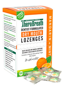 TheraBreath Dry Mouth Lozenges Mandarin Mint 100 ct