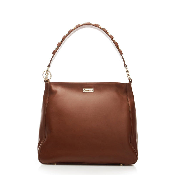 walnut anti-theft handbag