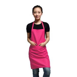 black color 63x70cm polyester classic design work apron kitchen apron with pocket couples apron