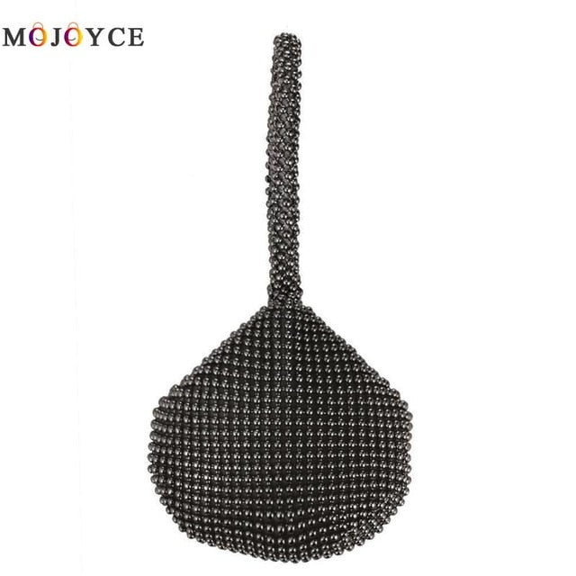 Rhinestones Women Metal Evening Clutch Bag Fashion Lady Female Diamond Super Mini Handbag For Wedding Bag  Exquisite design
