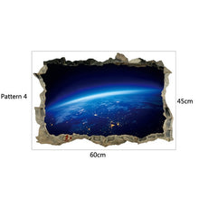 Load image into Gallery viewer, 3D Star Universe series Broken wall stickers for kids baby rooms bedroom home decoration decals mural poster sticker on the wall