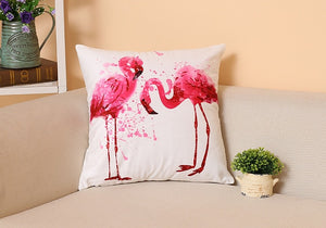Nordic Flamingo Tropical Leaf Cushion Cover Flower Polyester Throw Pillow Home Decoration Sofa Decorative Pillowcase