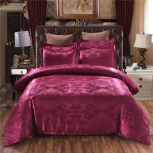 Load image into Gallery viewer, Claroom Jacquard Bedding Set Queen King Size Duvet Cover Silk Bed Linens Quilt High Quality Luxury Gold Colour 2/3pcs Comforter