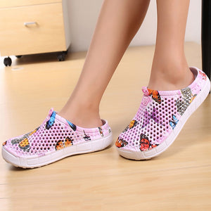 2019 womens casual Clogs Breathable beach sandals valentine slippers summer slip on women flip flops shoes home shoes for women