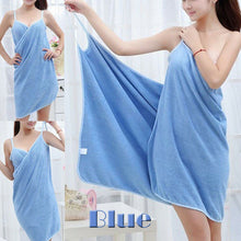 Load image into Gallery viewer, Home Textile Towel Women Robes Bath Wearable Towel Dress Womens Lady Fast Drying Beach Spa Magical Nightwear Sleeping