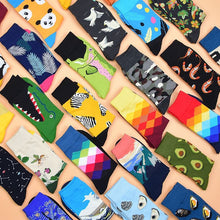 Load image into Gallery viewer, 1 pair of men's cotton color combing socks casual men's socks funny knit printed animal cartoon novelty equipment socks gifts