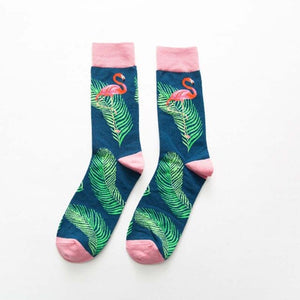 1 pair of men's cotton color combing socks casual men's socks funny knit printed animal cartoon novelty equipment socks gifts