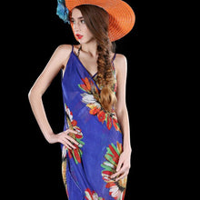 Load image into Gallery viewer, Hot Summer Women Chiffon Fashion Floral Beach Bikini Cover Up Wrap Scarf Pareo Swimwear Sarong Dress Hot Female Beach Cover Ups