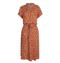 Load image into Gallery viewer, Ladies Bohemian Leopard Print Shirt Dress Women Casual Midi Holiday Summer Dress Female A-line Loose Women Beach Dress Vestidos
