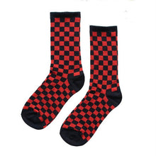 Load image into Gallery viewer, Korea Harajuku Trend Women Checkerboard Socks Geometric Checkered Socks Men Hip Hop Cotton Unisex Streetwear Novelty Socks
