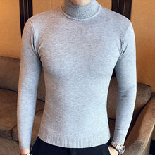 Load image into Gallery viewer, Winter High Neck Thick Warm Sweater Men Turtleneck Brand Mens Sweaters Slim Fit Pullover Men Knitwear Male Double collar