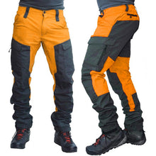Load image into Gallery viewer, Casual Men Fashion Color Block Multi Pockets Sports Long Cargo Pants Work Trousers for Men