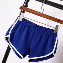 Load image into Gallery viewer, shorts women Hot Women Blend 2019 Summer Short Pants Contrast Binding Side Split Elastic Waist Patchwork Casual Beach Party