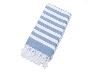 Striped Cotton Turkish Sports Bath Towel with Tassels Travel Gym Camping Bath Sauna Beach Gym Pool Blanket Absorbent Easy Care