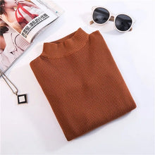 Load image into Gallery viewer, Marwin New-coming Autumn Winter Turtleneck Pullovers Sweaters Primer shirt long sleeve Short Korean Slim-fit tight sweater