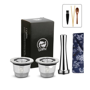 ICafilasSVIP For Nespresso Reutilisable  Refillable Capsule Crema Espresso Reusable Refillable Coffee Filter For Nespresso