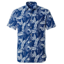 Load image into Gallery viewer, 100% Cotton Hawaiian Printed Men's Shirt US Size Regular Fit Short Sleeve Beach Blouse
