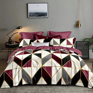 Jane Spinning King Duvet Cover Set Geometry Comforter Bedding Sets Duvet Cover 200x200 QQ05#