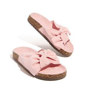 MCCKLE Women Slippers Summer Sandals Bowknot Casual Beach Shoes Ladies Fashion Shoe Female Flats Flip Flops New Slides Footwear