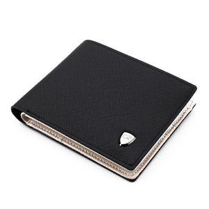 Men's Wallet Fashion Solid Color Cross Pattern Open Multi Card Position Wallet Men Leather Purse Men Carteira Billetera Hombre