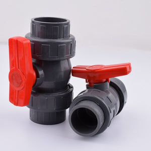 1Pc 20/25/32/40/50mm PVC Pipe Union Valve Water Pipe Fittings Ball Valve Garden Irrigation Water Pipe Connector Aquarium Adapter