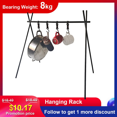 8kg Ultralight Hanging Rack Aluminum Alloy Tableware Cookware Rack Outdoor Camping Shelf Clothes Storage Hanger Triangle Rack