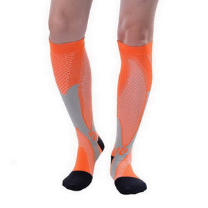 Men Women Compression Socks Fit For Football Sports Anti Fatigue Pain Relief Knee High Stockings Black Compression Socks 1 Pair