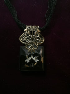 Miniature Curiosities: Mouse Specimen Lace Necklace - On Sale