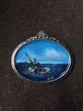 Load image into Gallery viewer, Sinking Ship Painted Brooch