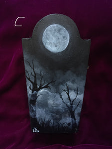 Haunting Moon Painted Boxes