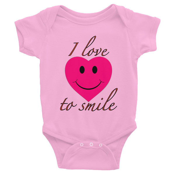 I Love to Smile Baby Onesie