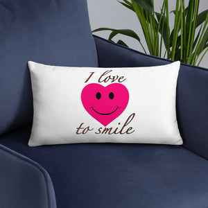 I Love to Smile Pillow