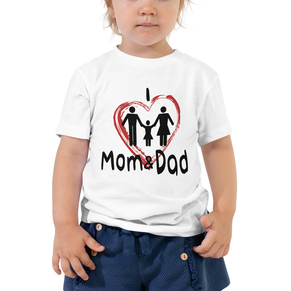 I Love Mom & Dad Baby Girl T-Shirt