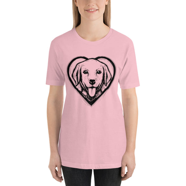 Dog Lover Short-Sleeve T-Shirt (Transparent Design)