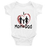 I Love Mom & Dad Baby Boy Onesie