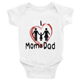 I Love Mom & Dad Baby Girl Onesie