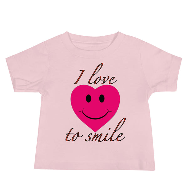 I Love to Smile Baby T-Shirt