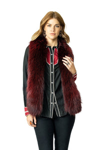 Double D Ranch Hondo Vest in Oxblood Red 6Whiskey Nashville Fall 2020 V961