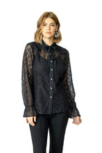 Load image into Gallery viewer, DDR Lil' Bit Country Top in Man in Black 6Whiskey Nashville Fall 2020 Long Sleeve Lace T3383