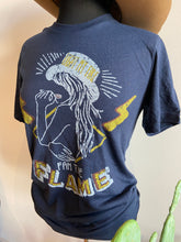 Load image into Gallery viewer, Fan the Flame Navy Graphic T-shirt 6Whiskey Fall 2020